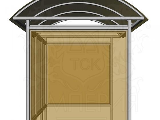 Остановочный павильон из сотового поликарбоната