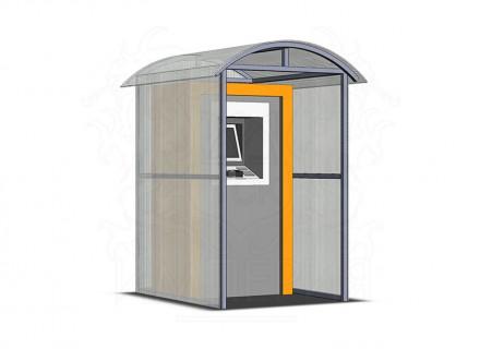 Навес для терминала/паркомата из сотового поликарбоната