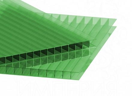 Сотовый поликарбонат IRROX толщина 4 мм, зеленый
