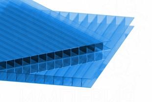 Сотовый поликарбонат IRROX толщина 4 мм, синий