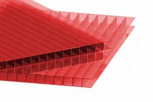 Сотовый поликарбонат IRROX толщина 6 мм, красный