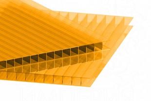 Сотовый поликарбонат IRROX толщина 6 мм, оранжевый