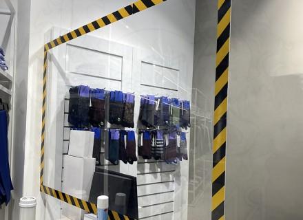 Экран-завеса для кассира (подвесной) 1000*1250 мм