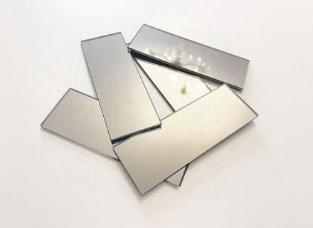 Зеркальная мозайка прямоугольной формы 63*30 мм (125 шт)