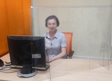 Экран-завеса защитный 1300*750 мм (с окном 150*300 мм)