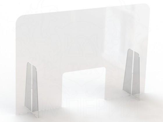 Экран защитный для салонов красоты 900*600 мм (с окном 220*300)