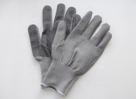 Перчатки нейлоновые с точечным покрытием