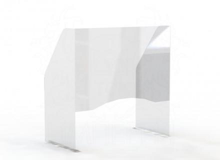 Экран защитный для маникюрного стола 600*600 мм (с окном 200*600)