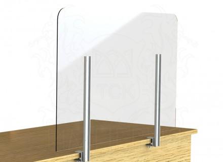 Экран-завеса защитный 1000*600 мм (с креплением к торцу стола)