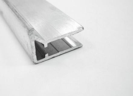 Профиль торцевой алюминиевый F8 мм.
