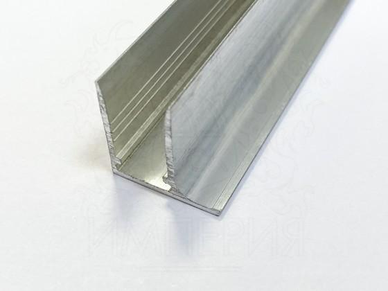 Профиль торцевой алюминиевый F10 мм.