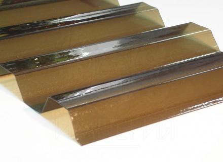 Профилированный поликарбонат Borrex бронза йод 1.3 мм