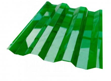 Профилированный поликарбонат Borrex зеленый прозрачный 1.3 мм