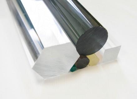 Круглый стержень из литьевого оргстекла (12 мм, б/цв)