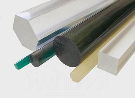 Круглый стержень из литьевого оргстекла (15 мм, б/цв)