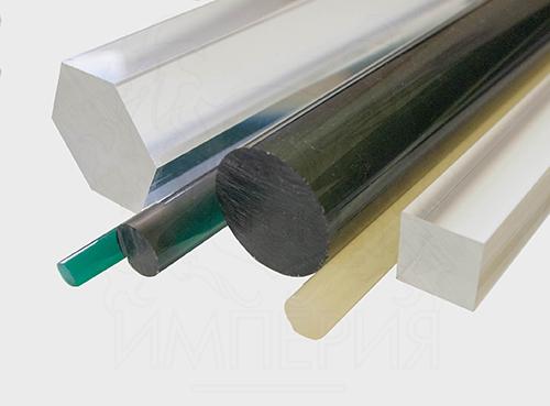Круглый стержень из литьевого оргстекла (40 мм, б/цв)