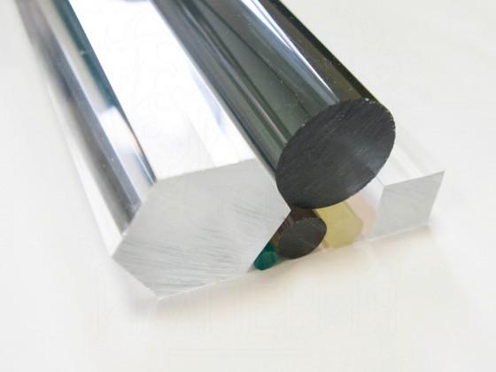 Круглый стержень из оргстекла экструзия (8 мм, б/цв)